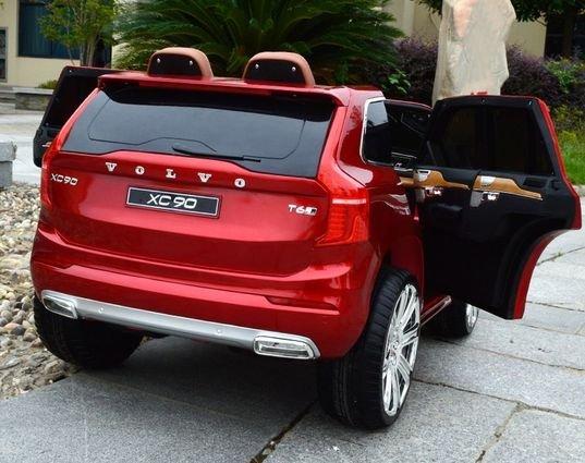 Электромобиль VOLVO XC90 красный (АКБ 12v 10ah, колеса резина, сиденье кожа, пульт, музыка)