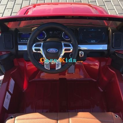 Электромобиль Ford Ranger F650 4WD (2х местный, колеса резина, сиденье кожа, пульт, музыка)